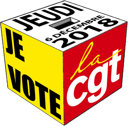 Logo je vote cgt 2018 no ombre